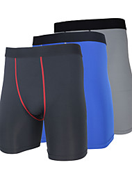 cheap -Arsuxeo Men's Running Tight Shorts - Red, Blue, Grey Sports Solid Colored, Classic Shorts / Bottoms Fitness, Gym, Workout Activewear Quick Dry, Anatomic Design, Wearable High Elasticity / Breathable