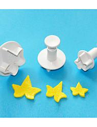 baratos -quatro c cortador bolo fondant folha de hera plástico decoração êmbolo, ferramentas fondant clássicos, ferramentas bolo