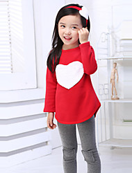 Girls' Print Sets,Cotton Spring Summer Fall Long Sleeve Clothing Set Red Pink