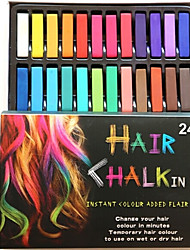 cheap -Temporary 24 Color Chalk Crayons for Hair Non-toxic Hair Dye Pastels Stick DIY Styling Tools