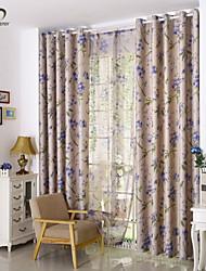 Paese curtains® un pannello foglia beige tenda stampa blackout