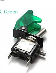 cheap -5x Green(Or Blue/Red)Car Cover LED SPST Toggle Rocker Switch Control 12V 20A