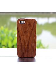 madeira de bambu real natural da tampa do caso duro de madeira para 5c maçã iphone