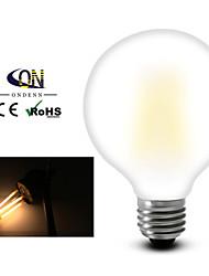 economico -e26 / e27 lampadine filettate led g95 8 cob 800lm bianco caldo 2800-3200k dimmable ac 220-240 ac 110-130v