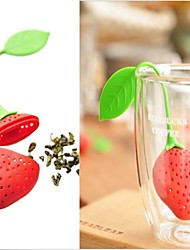 New Silicon Strawberry Design Tea Leaf Strainer 1pc,Kitchen Tool