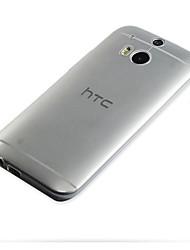 billige -Etui Til HTC Etui HTC Ultratynn / Gjennomsiktig Bakdeksel Ensfarget Myk TPU til