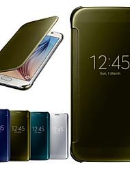 Недорогие -тренажерный зал роскошь зеркало окно полное тело чехол для Samsung Galaxy S6 g9200