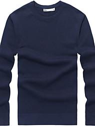 billige -Herre Plusstørrelser Pullover - Ensfarvet