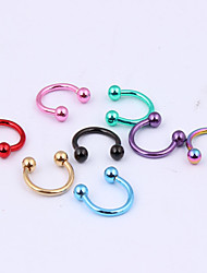 cheap -Labret / Lip Piercings / Lip Ring / Nose Ring / Nose Stud / Nose Piercing / Ear Piercing Stainless Steel Lips Unique Design, Fashion Women's Random Color Body Jewelry For Christmas Gifts / Party