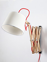 Style mini Eclairage avec Bras oscillant,Traditionnel/Classique E26/E27 Bois/bambou