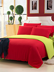 Yuxin® Red Color Cotton Duvet Cover Sets 4 Piece Suit Comfort Simple Modern for Twin Full and Queen Bed Size