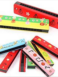Недорогие -16 отверстие красочные деревянные гармоника / детские образовательные игрушки