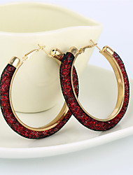 cheap -Hoop Earrings Rhinestone Simulated Diamond Alloy Star Brown Red Pink Dark Red Light Blue Jewelry Party Daily Casual 2pcs