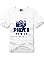abordables -t-shirts personnalisés loisirs blanc détendue conception coton manches courtes
