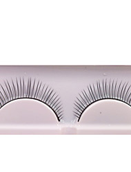 cheap -1 Pairs Black Fiber False Eyelashes Cosmetic Beauty Care Makeup for Face