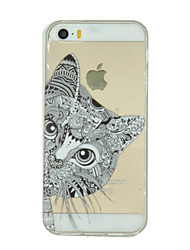 cheap -Case For iPhone 7 / iPhone 7 Plus / iPhone 5 iPhone 5 Case Transparent / Pattern Back Cover Cat Soft TPU for iPhone 7 Plus / iPhone 7 / iPhone SE / 5s