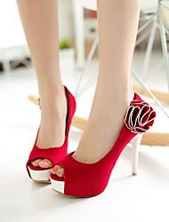 cheap -Women's Shoes Fleece Stiletto Heel Peep Toe Pumps Dress Shoes More Colors Available