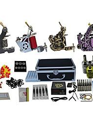 preiswerte -4 Pistolen komplette Tattoo-Set mit freiem Geschenk von 20 Tätowierfarben