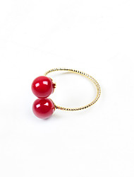 cheap -Fashion Women Red Acrylic Open Adjustable Ring