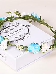 economico -Donne Bambina Carta Plastica Copricapo-Matrimonio Occasioni speciali Casual Formale All'aperto Ghirlande di fiori 1 pezzo