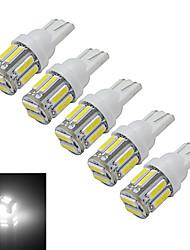 abordables -1.5W 300 lm T10 Lampe de Décoration 10 diodes électroluminescentes SMD 7020 Blanc Froid DC 12V