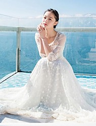 Women's  Hollow Out  Lace Embroidery Long Dress