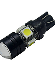 cheap -250-280 lm T10 Decoration Light 5 leds SMD 5050 Cold White DC 12V
