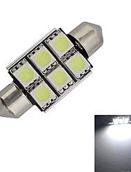 povoljno -1.5W 100-150 lm Festoon Ukrasna svjetla 6 LED diode SMD 5050 Hladno bijelo DC 12V