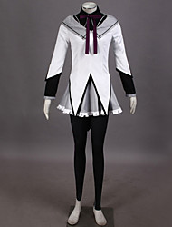 Ispirato da Puella Magi Madoka Magica Homura Akemi Video gioco Costumi Cosplay Abiti Cosplay Collage Camicia Top Gonna Pantaloni Arco