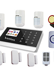 Touch Pstn Gsm Alarm System Security Home Systems With Pet Immune Pir, Android Ios Relay Control