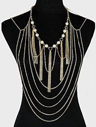 cheap -Women's Body Chain Imitation Pearl Alloy Unique Design Party Casual Fashion Others Body Jewelry For Party Costume Jewelry Golden