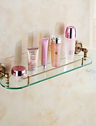 cheap -Bathroom Shelf / Antique Brass Brass /Antique