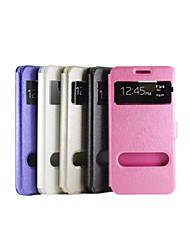 abordables -Coque Pour Samsung Galaxy Samsung Galaxy Coque Avec Support / Avec Ouverture / Clapet Coque Intégrale Couleur Pleine faux cuir pour Alpha