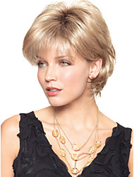 Недорогие -высокое качество шапки короткие волнистые моно топ парики человеческих волос 6 цветов на выбор
