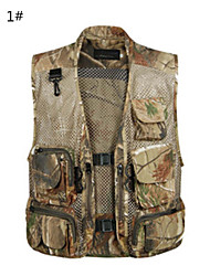 cheap -2015 Summer Camouflage Grid Mesh Breathe Freely  High Grade Cotton Mountifational  Fishing Hunting Vest