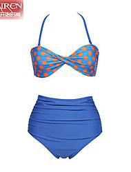 cheap -Muairen® Women's High Waist/Retro Polka Dot Bikini Bra-Style SwimSuit Cover WaS Thin Belly SwimSuit