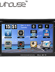 economico -6.2 pollice 2 Din Windows CE 6.0 / Windows CE In-Dash DVD Player Bluetooth integrato / GPS / iPod per Supporto / RDS / Comandi al volante / Uscita per subwoofer / Giochi / Schermo touch