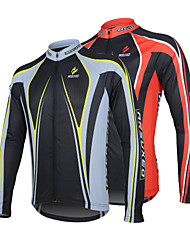 Arsuxeo Cycling Jersey Men's Long Sleeves Bike Jersey Tops Quick Dry Anatomic Design Front Zipper Antistatic Breathable Limits Bacteria