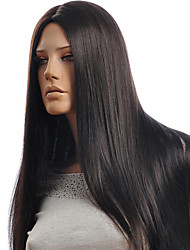 cheap -Synthetic Wig Straight Middle Part Synthetic Hair Fashionable Design Black Wig Women's Long Capless