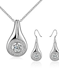 cheap -Women's Drop Earrings Necklace Jewelry Fashion Party Daily Casual Work Office & Career Silver Plated Drop