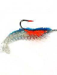Soft Bait Simulation The Bait 3g Hook Fluorescence Shrimp