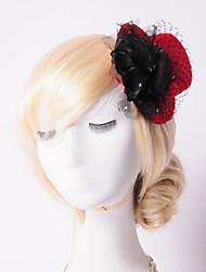 cheap -Basketwork Rhinestone Flannelette Net Hats Headpiece Elegant Style