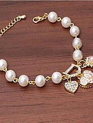 Alloy/Imitation Pearl Bracelet Charm Bracelets Wedding/Party/Daily/Casual 1pc