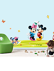 cheap -Wall Stickers Wall Decals, Style Mickey Mouse PVC Wall Stickers