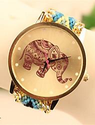 baratos -Mulheres Relógio de Pulso Fashion PU Banda Relógio de Pulso / Casual Preta