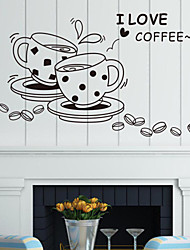 Wall Stickers Wall Decals, Style Coffee Cup PVC Wall Stickers