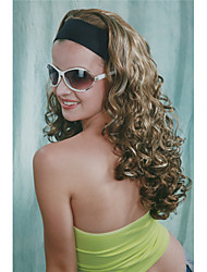 New Fashion 3/4 Wig With Headband Blonde & Brown Mix Curly Long Women's Half Wig