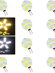 G4 LED Bi-pin Lights 15 SMD 5730 500-800 lm Warm White Cold White 2700-3500/6000-6500 K AC 12 V