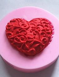Bageforme silikone hjerte bageforme til chokoladekage gelé (tilfældige farver)
