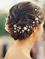 cheap -6pcs/lot Pearl Hairpins Headpieces for Wedding Party Elegant Style